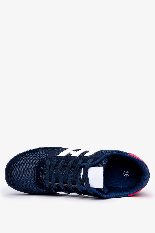 Granatowe buty sportowe sznurowane Casu 9-K2161B
