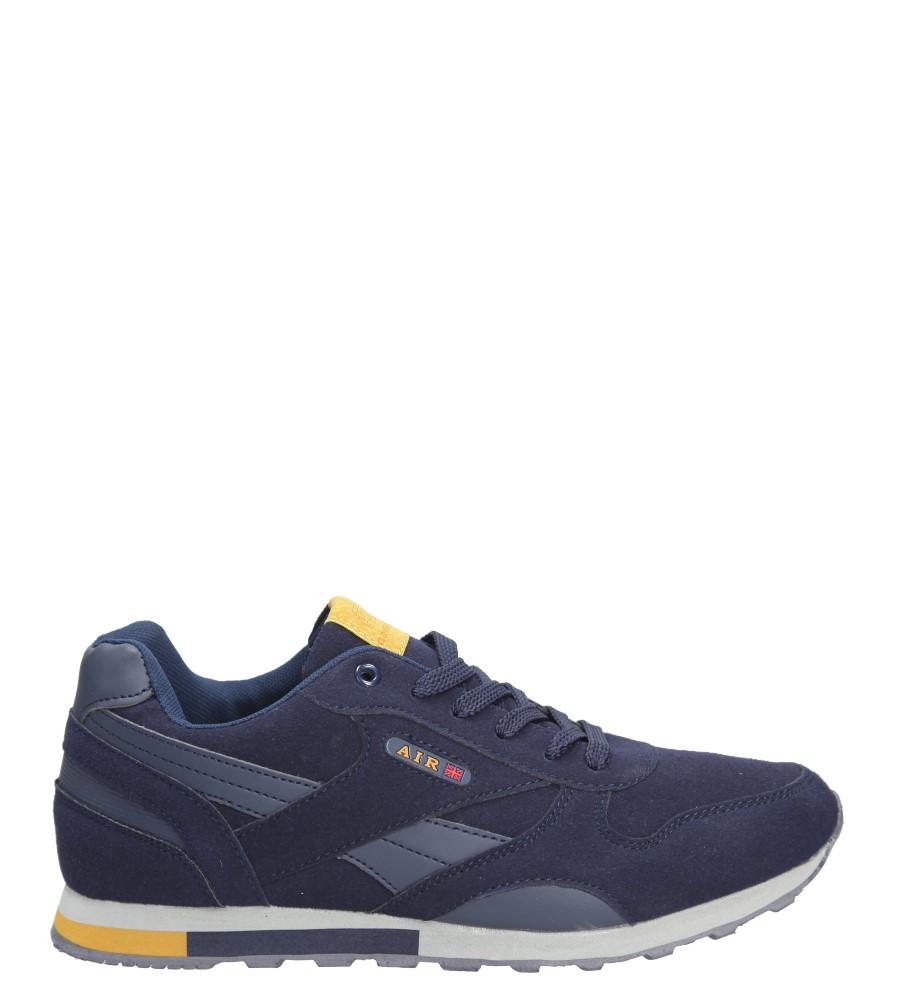 Granatowe buty sportowe sznurowane Casu 9ACH-17300 granatowy