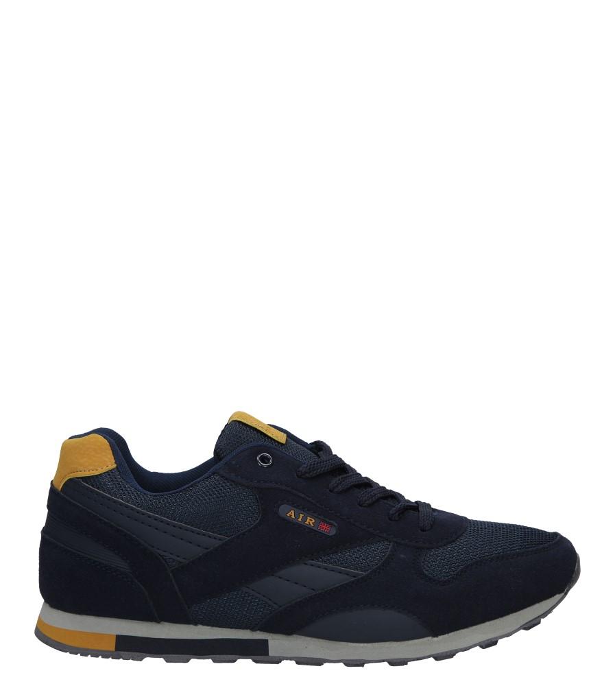 Granatowe buty sportowe sznurowane Casu 9ACH-17309
