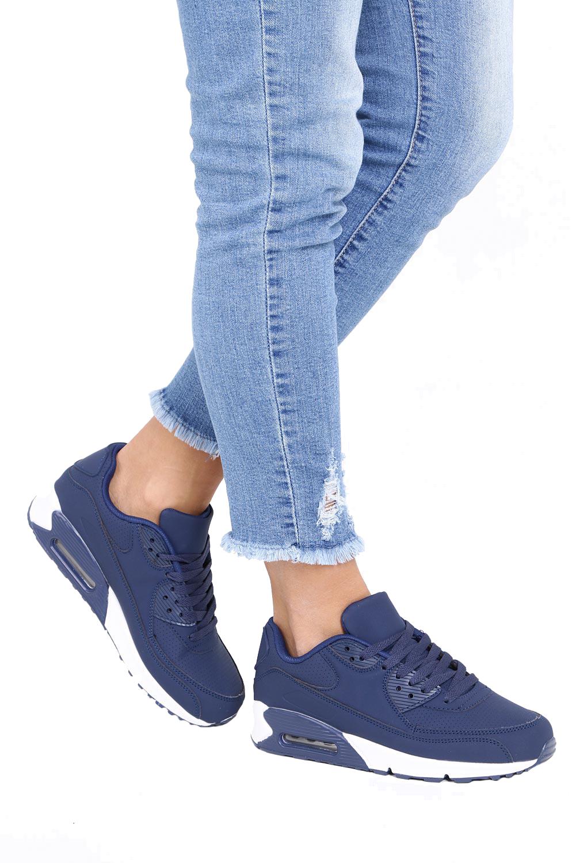 Granatowe buty sportowe sznurowane Casu D718-3