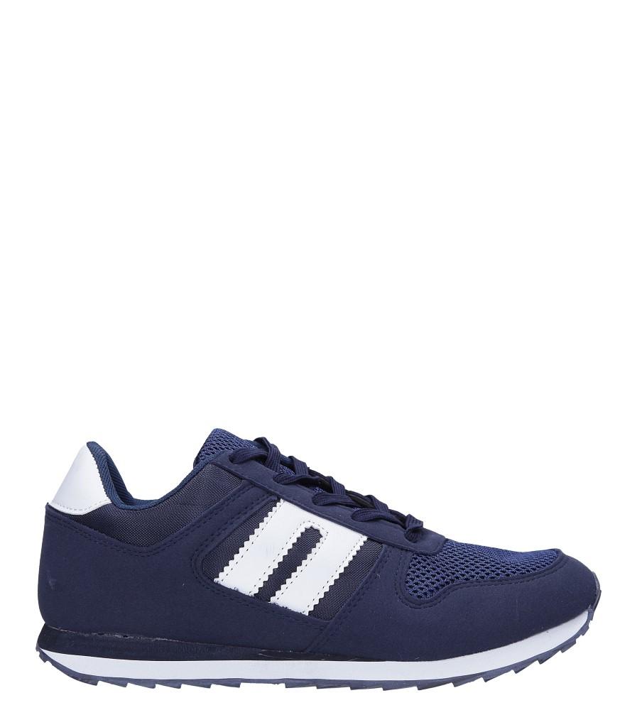 Granatowe buty sportowe sznurowane Casu DN17-7