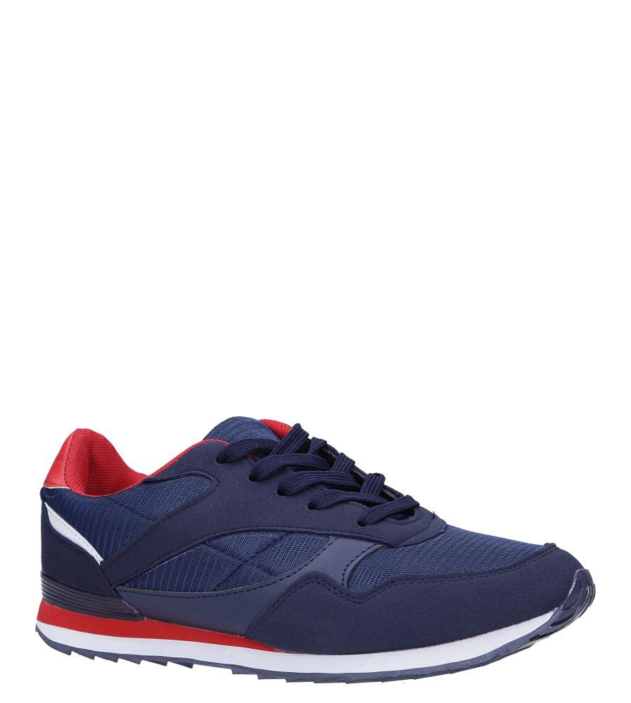 Granatowe buty sportowe sznurowane Casu DN19-1