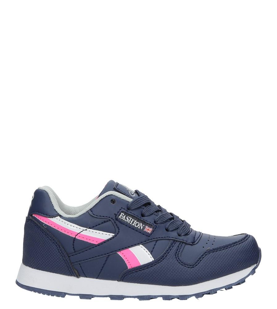 Granatowe buty sportowe sznurowane Casu FA353