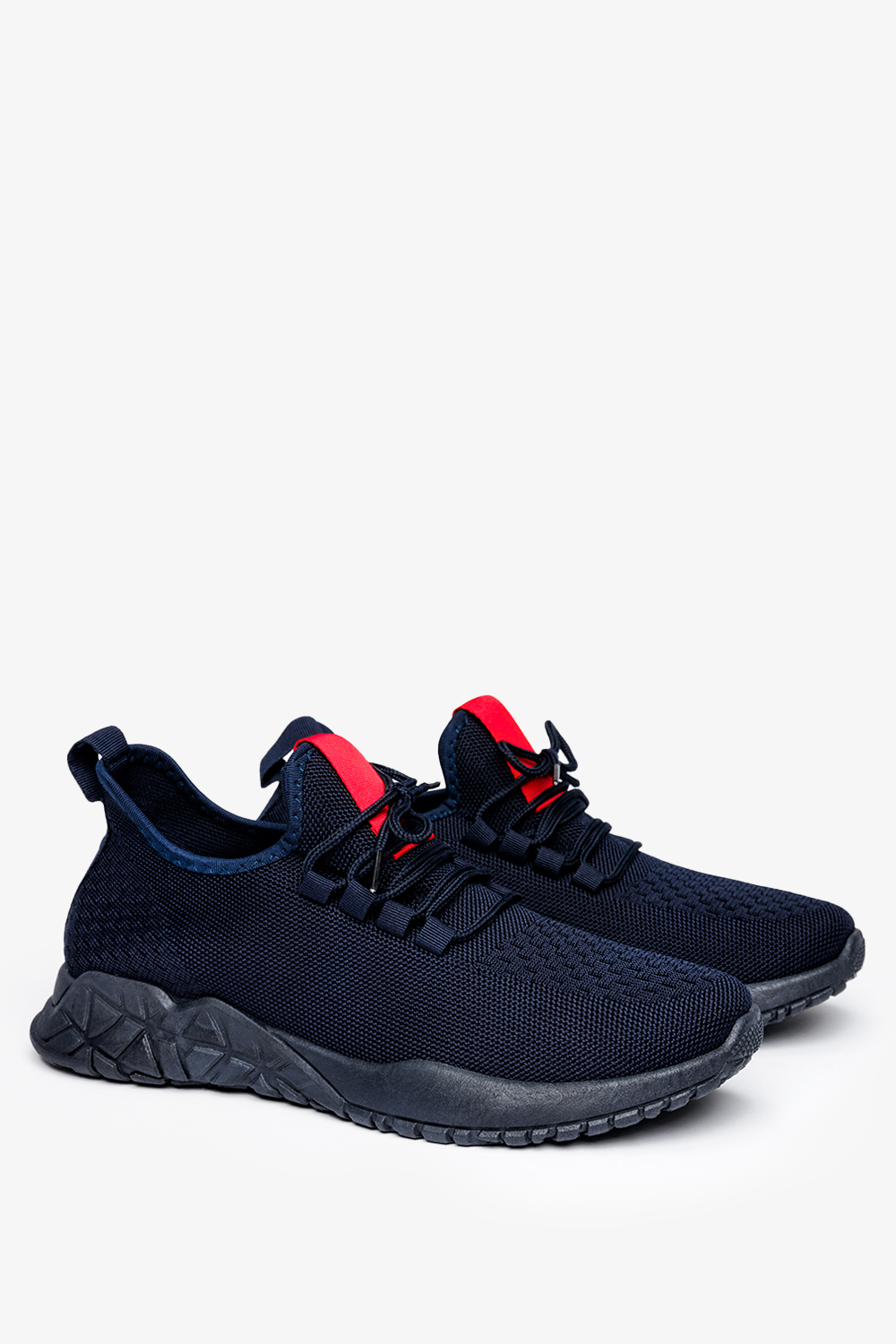 Granatowe buty sportowe sznurowane Casu JX-39