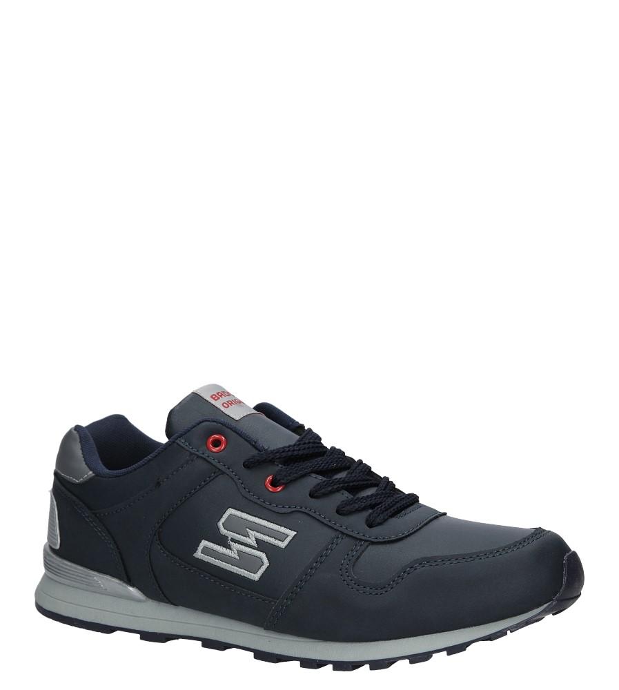 Granatowe buty sportowe sznurowane Casu MXC7251