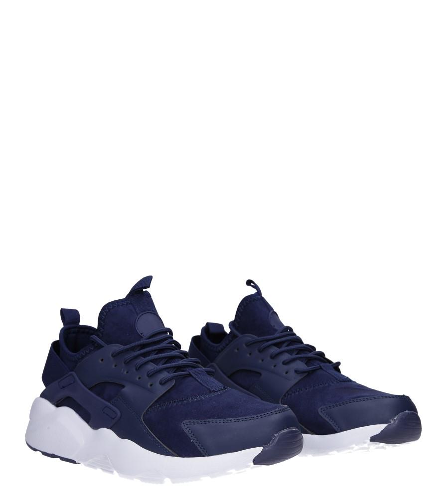 Granatowe buty sportowe sznurowane Casu U8102-3 kolor granatowy