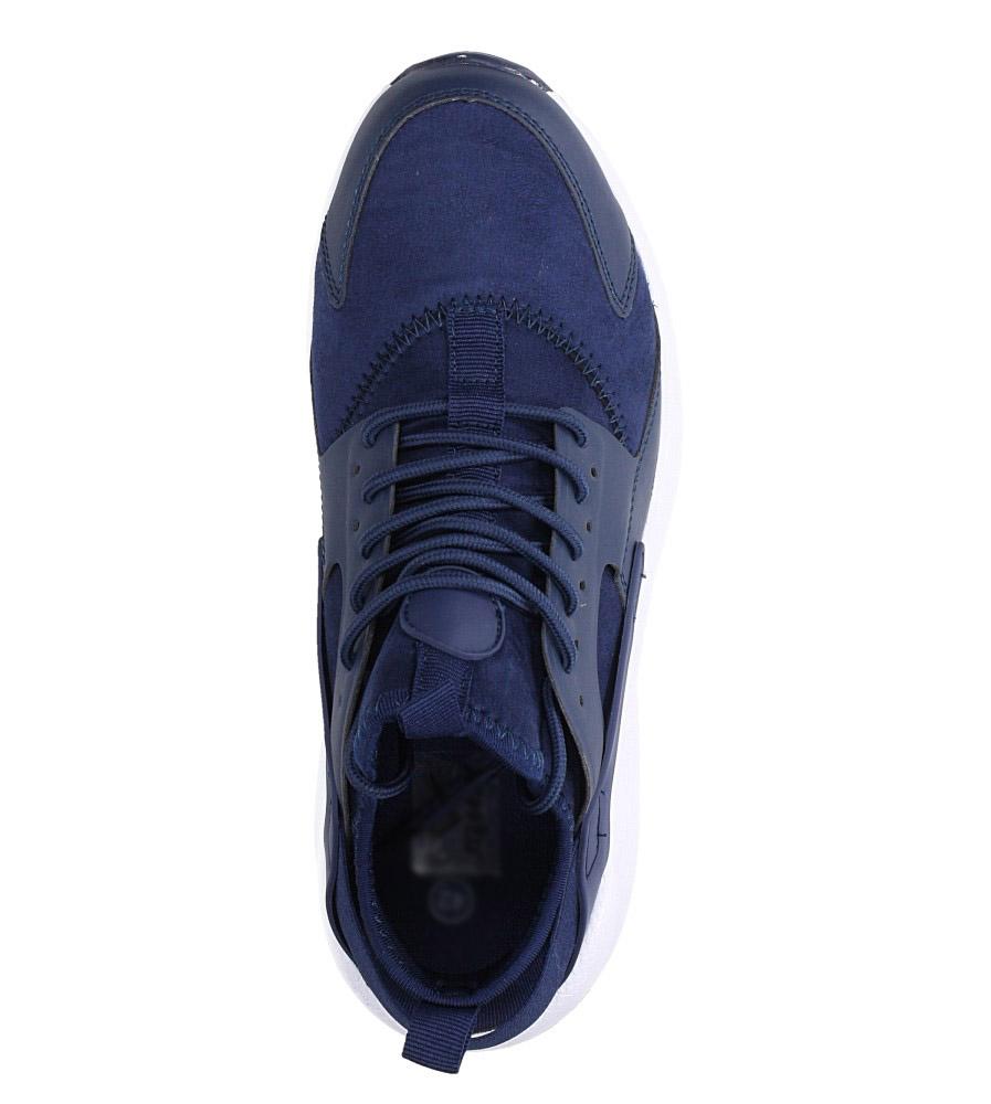 Granatowe buty sportowe sznurowane Casu U8102-3 wysokosc_platformy 1 cm