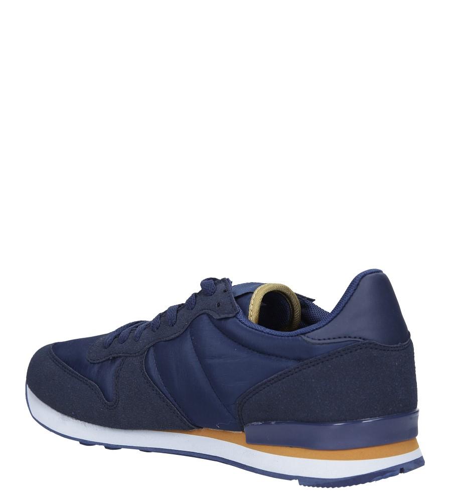 Granatowe buty sportowe sznurowane Casu U8106-3 sezon Całoroczny