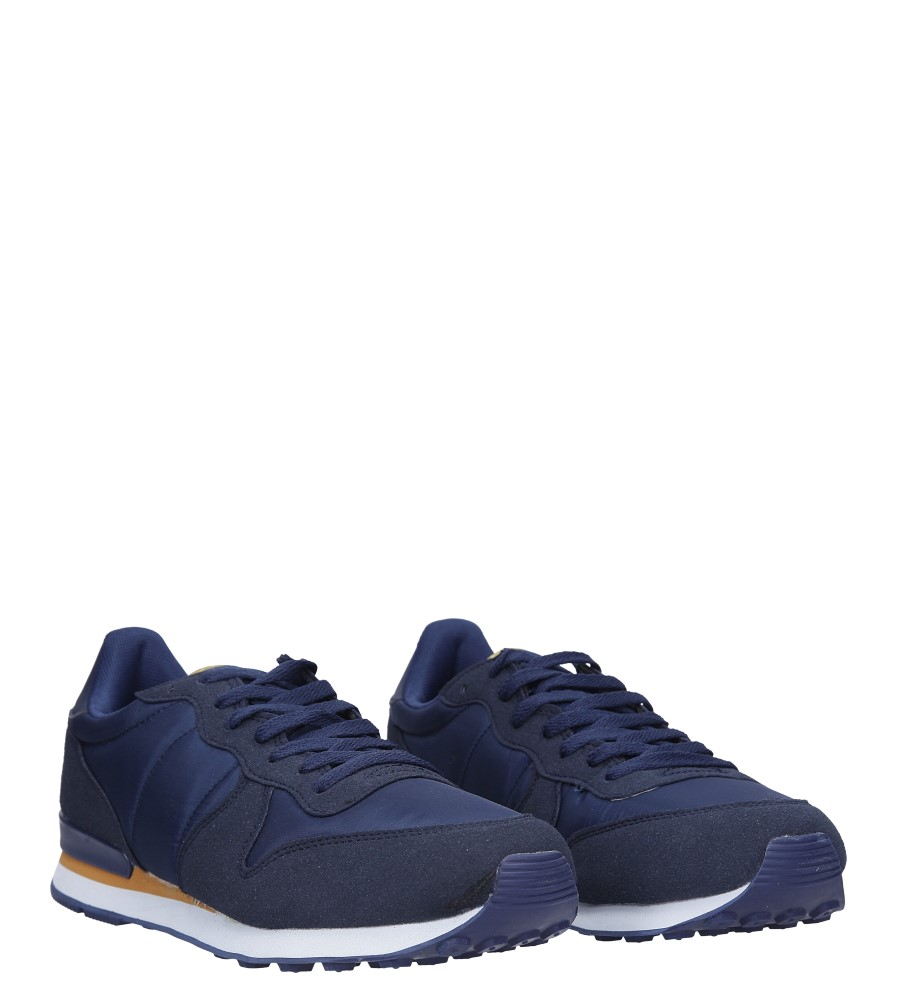 Granatowe buty sportowe sznurowane Casu U8106-3 kolor granatowy