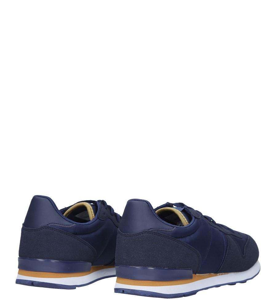Granatowe buty sportowe sznurowane Casu U8106-3 wysokosc_platformy 2 cm