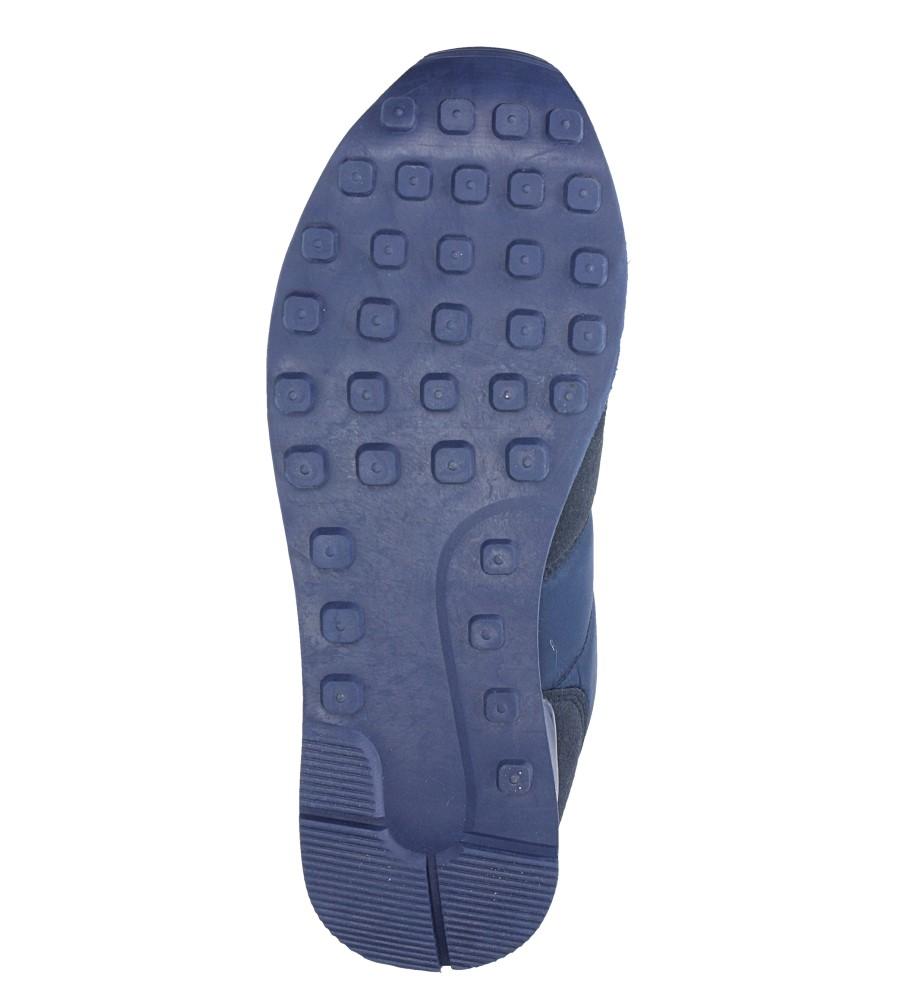 Granatowe buty sportowe sznurowane Casu U8106-3 wierzch materiał/skóra ekologiczna