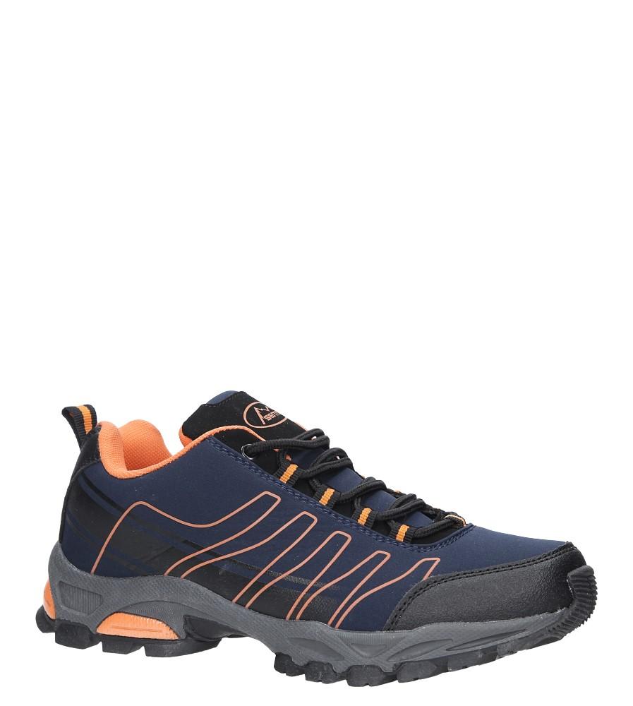 Granatowe buty sportowe sznurowane softshell Casu B1531-3 granatowy