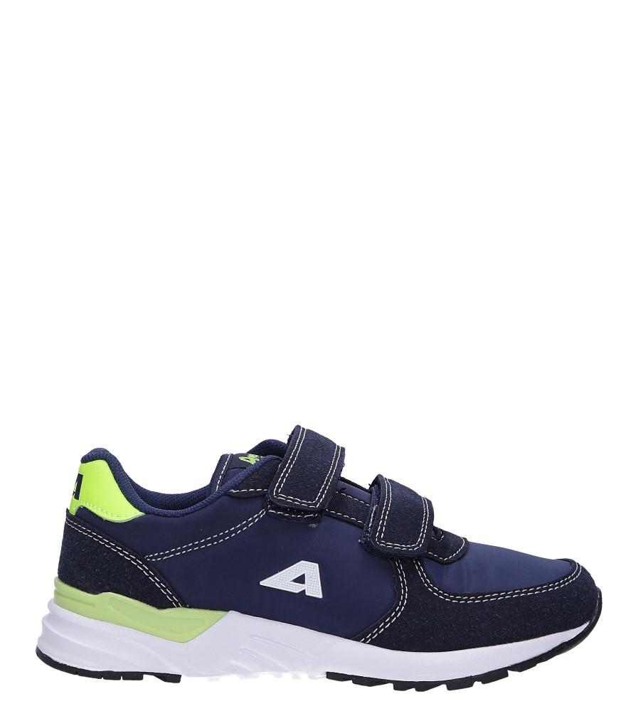 Granatowe buty sportowe ze skórzaną wkładką na rzepy American 03/19
