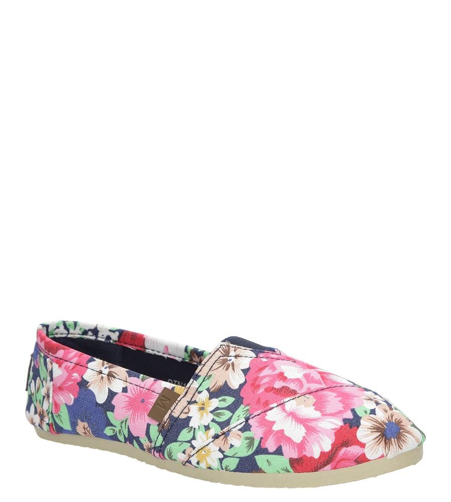 Granatowe buty tomsy w kwiatki Mckey DTN121/16NV