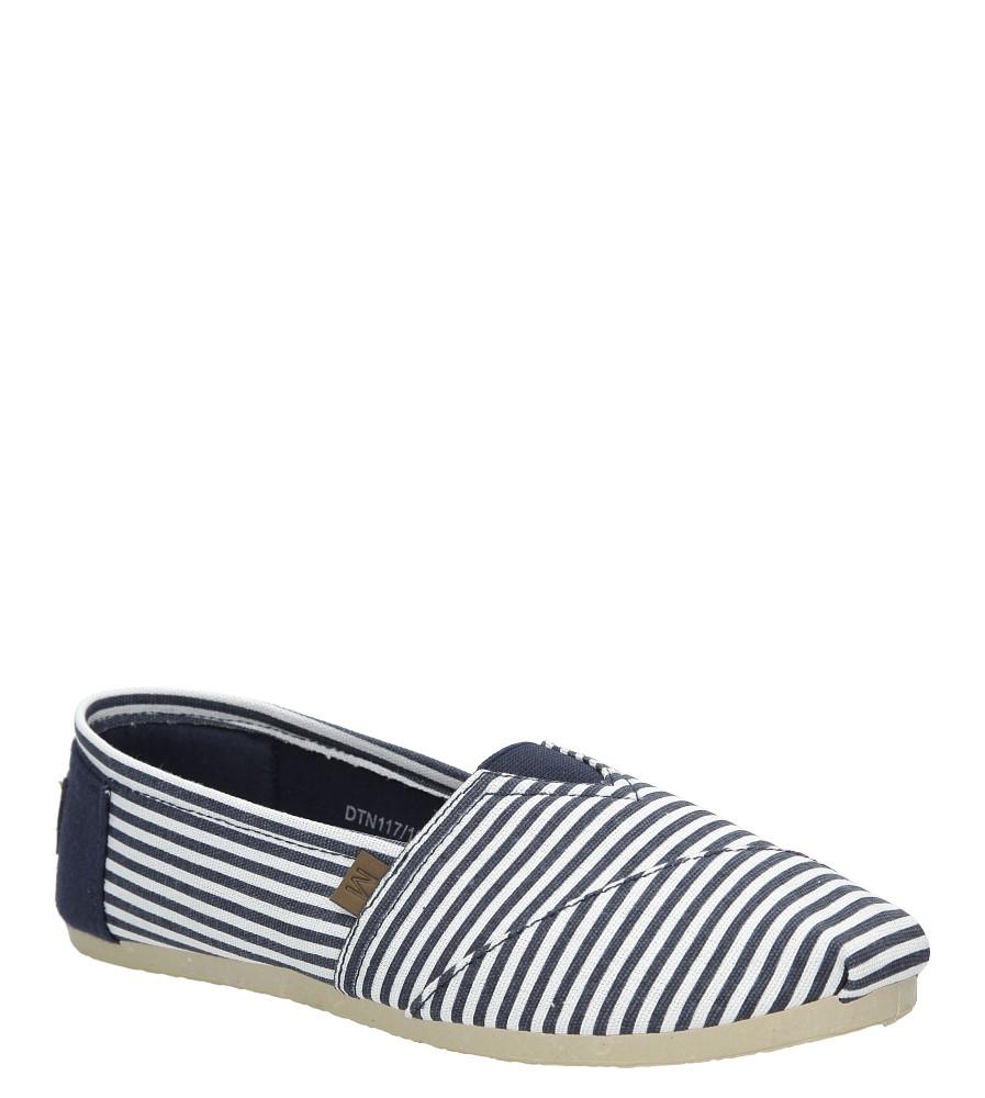 Granatowe buty tomsy w paski Mckey DTN117/16NV