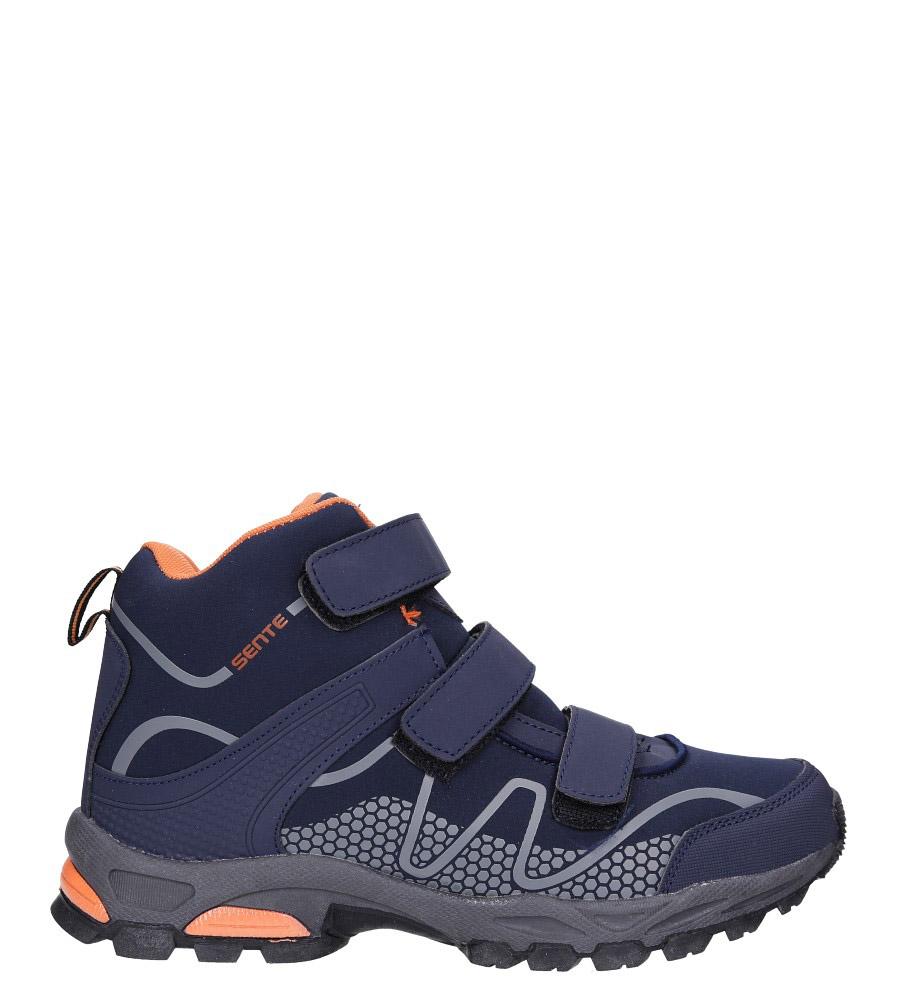 Granatowe buty trekkingowe na rzepy softshell Casu A1516B-2 granatowy