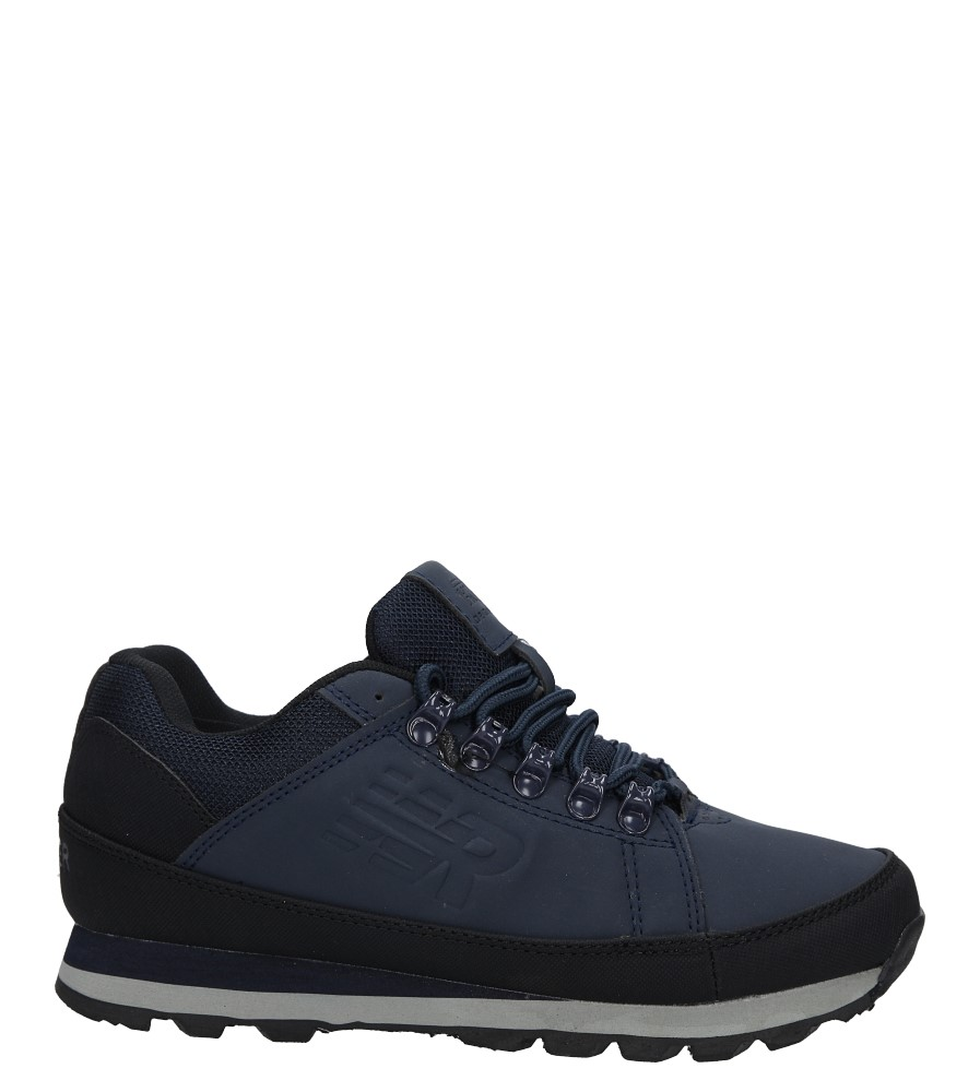 Granatowe buty trekkingowe sznurowane Casu 7ACH-17000