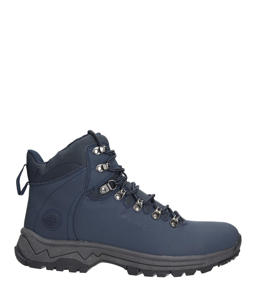 Granatowe buty trekkingowe sznurowane Casu 8TR85-0654