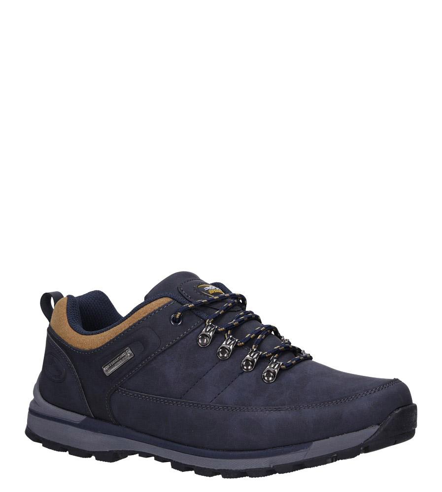 Granatowe buty trekkingowe sznurowane Casu MXC7621