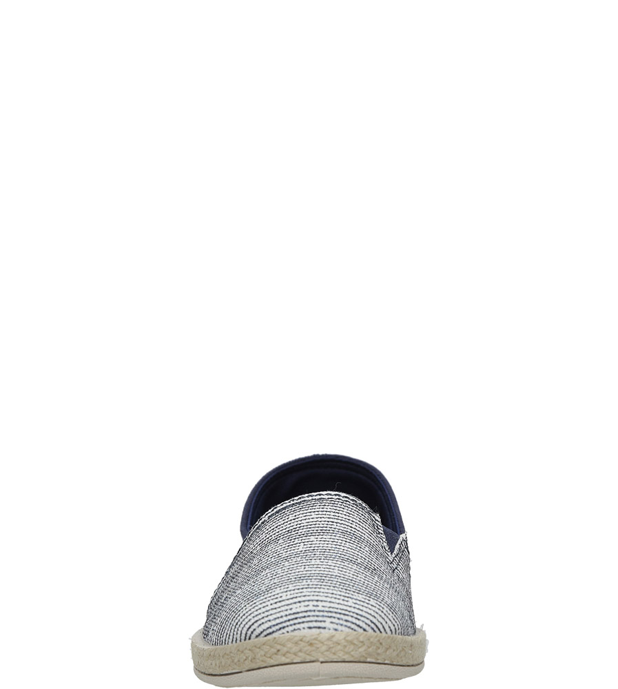 Granatowe espadryle slip on w paski Casu B865-13 style Kratka/Paski
