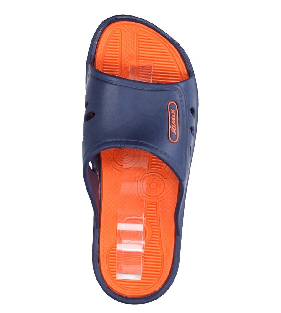 Granatowe klapki basenowe Casu SU0290 kolor granatowy, pomarańczowy
