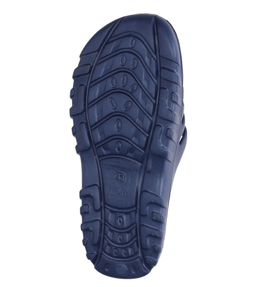 Granatowe klapki basenowe Casu SU0292 kolor ciemny niebieski, granatowy, niebieski