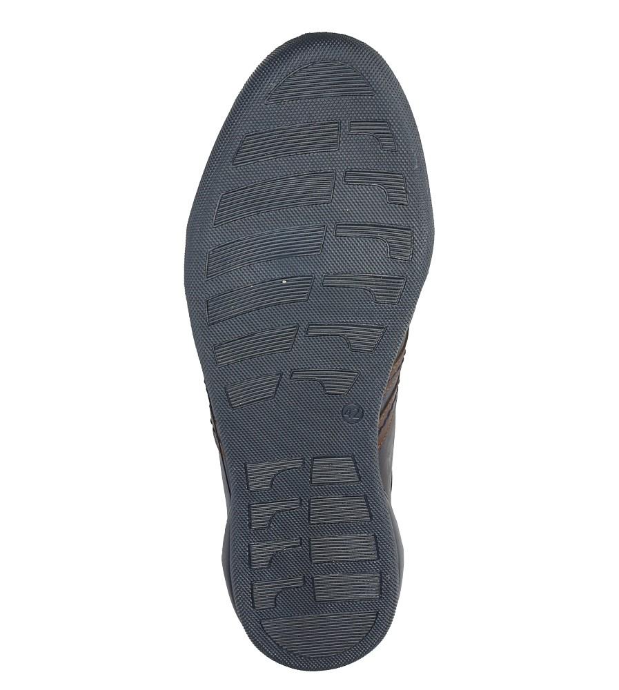 Granatowe półbuty skórzane sznurowane Casu R-2/1067/908 wys_calkowita_buta 10.5 cm