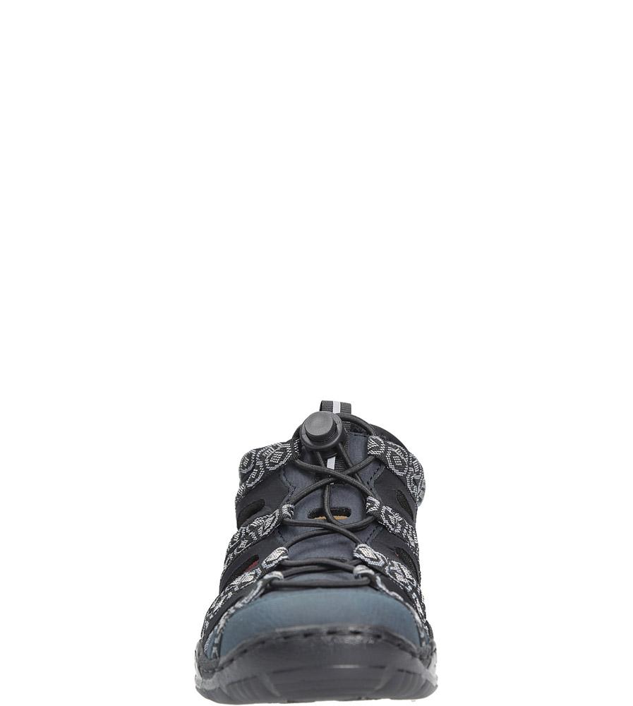 Granatowe półbuty sportowe Rieker L0577-15 style Ażurowy
