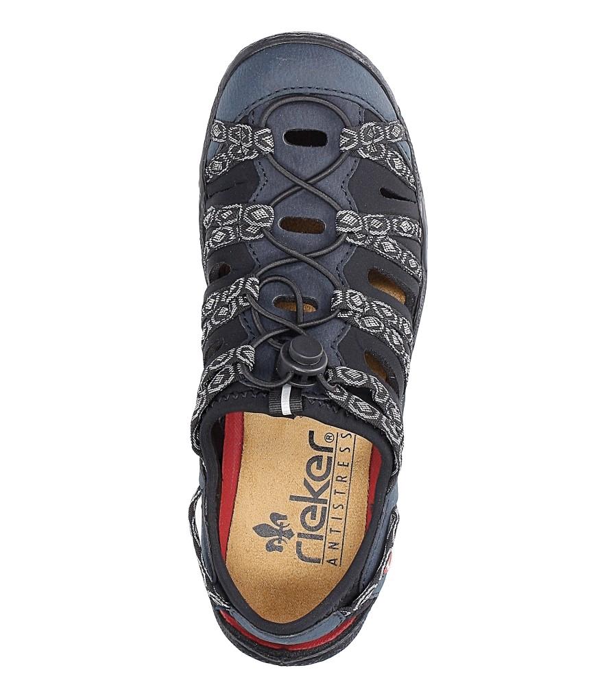 Granatowe półbuty sportowe Rieker L0577-15 wysokosc_obcasa 4 cm