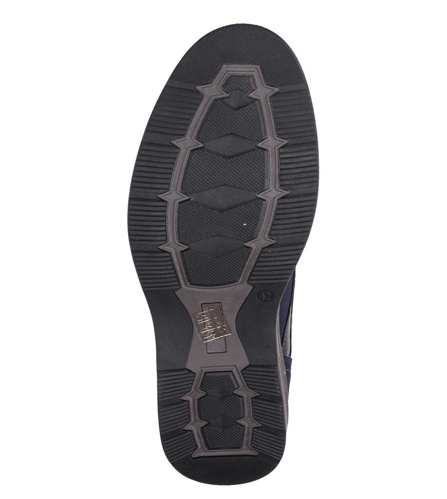 Granatowe półbuty sznurowane Casu 603-C wys_calkowita_buta 12 cm