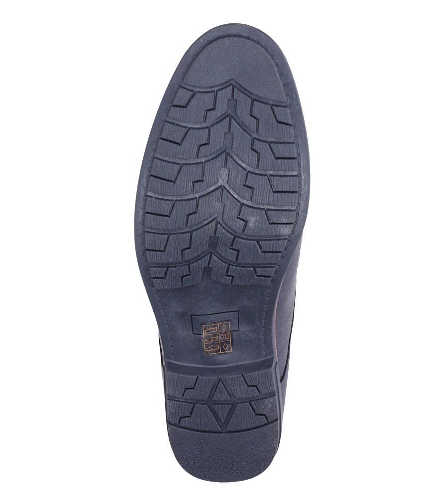 Granatowe półbuty sznurowane Casu MXC362 wys_calkowita_buta 13.5 cm