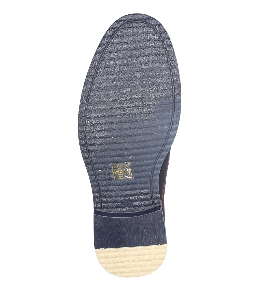 Granatowe półbuty sznurowane ze skórzaną wkładką Casu AB121A-3 wys_calkowita_buta 13 cm