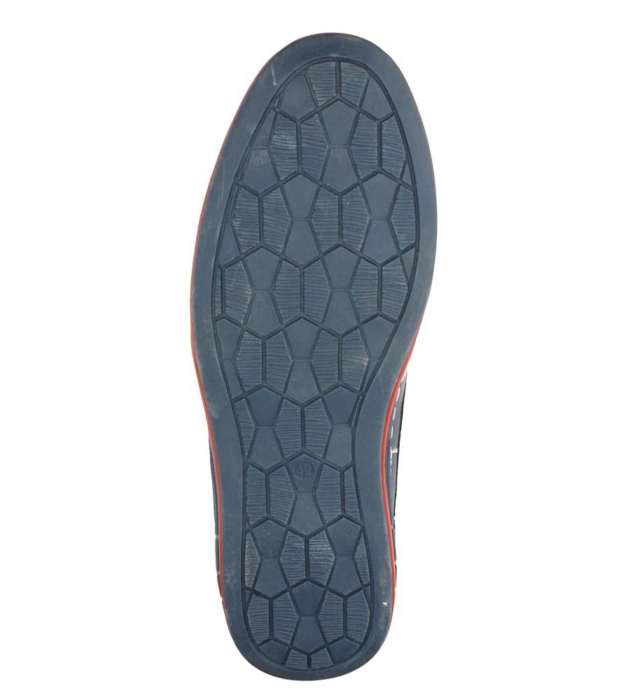 Granatowe półbuty sznurowane ze skórzaną wkładką Casu AB31-8 wys_calkowita_buta 12.5 cm