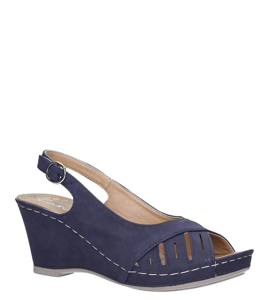 Granatowe sandały na koturnie Casu SN19X5/N