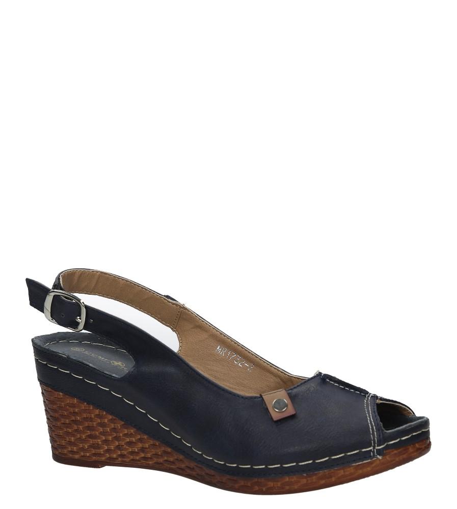 Granatowe sandały na koturnie Jezzi MR1732-2 producent Jezzi