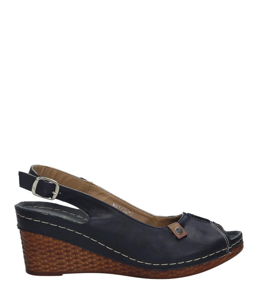 Granatowe sandały na koturnie Jezzi MR1732-2 sezon Lato