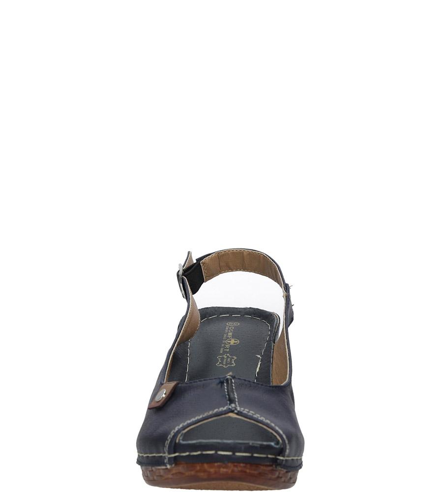 Granatowe sandały na koturnie Jezzi MR1732-2 kolor granatowy