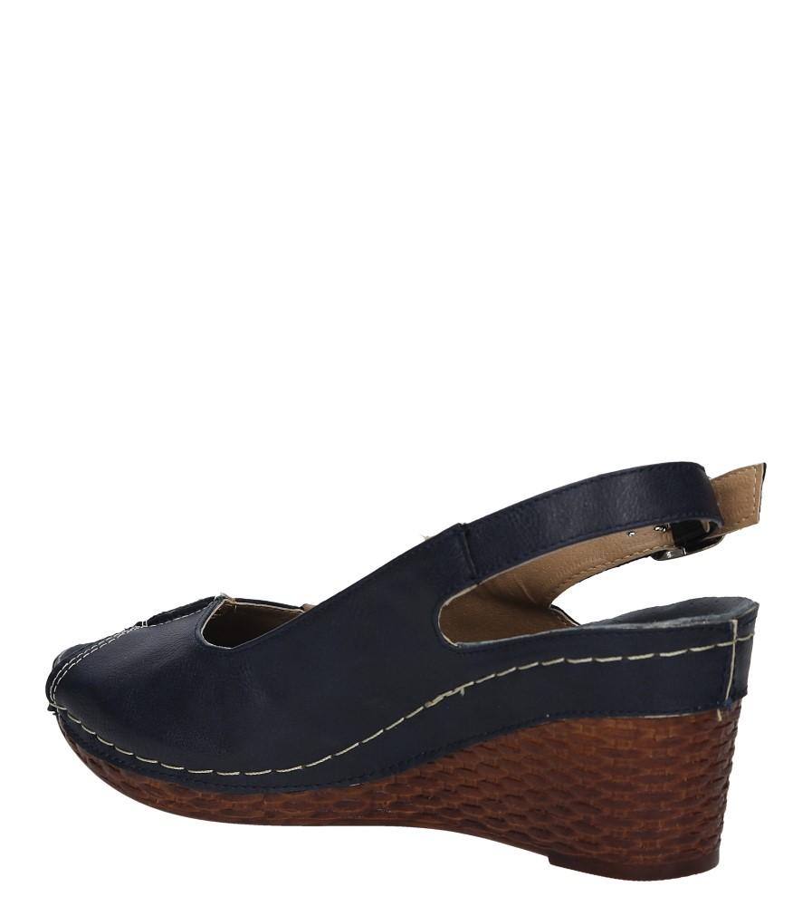 Granatowe sandały na koturnie Jezzi MR1732-2 wysokosc_obcasa 7 cm