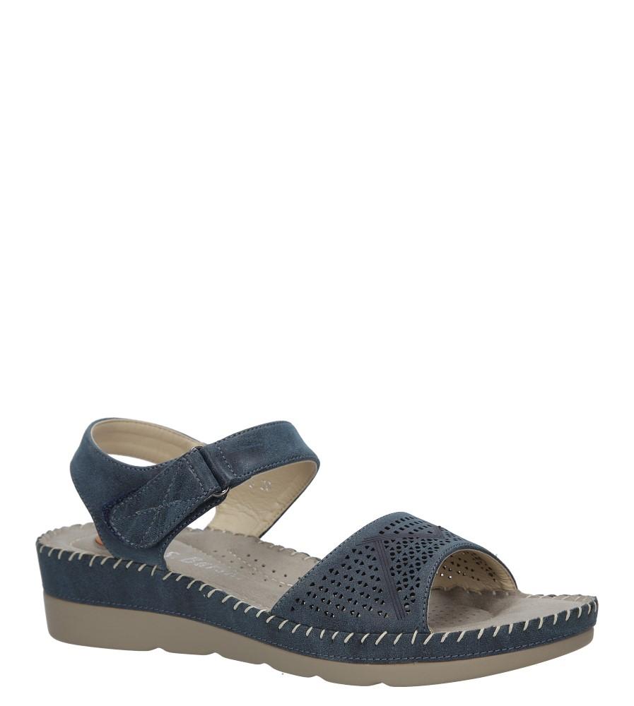 Granatowe sandały na koturnie S.Barski 330-3