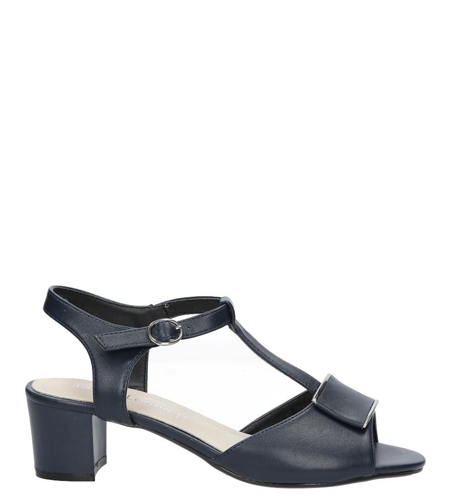 Granatowe sandały na niskim obcasie Sergio Leone SK806-06P