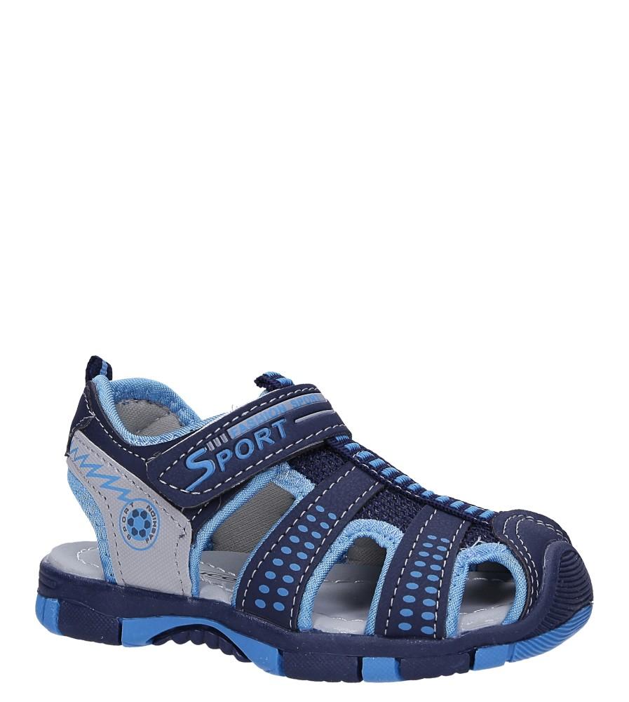 Granatowe sandały na rzep Casu 58005
