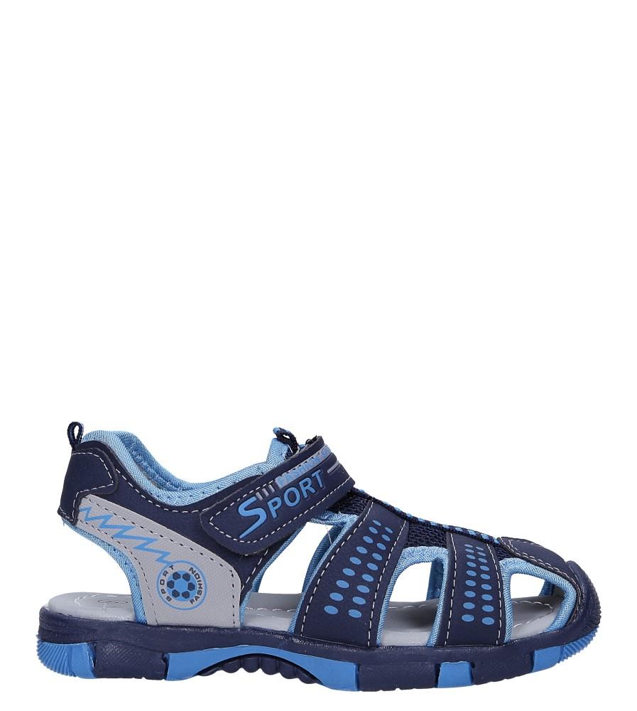 Granatowe sandały na rzep Casu 58006