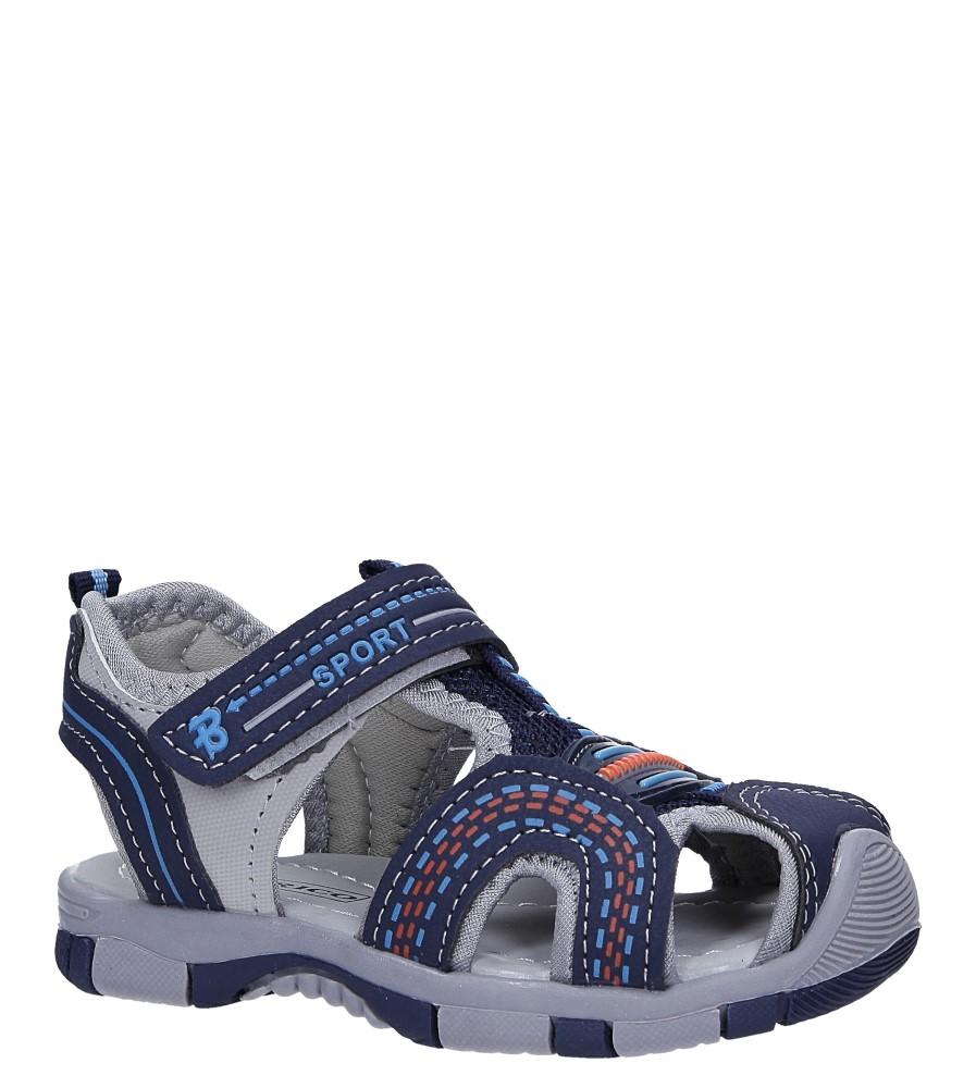 Granatowe sandały na rzep Casu 58009 producent Casu