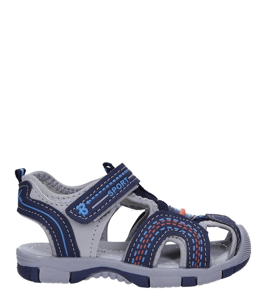 Granatowe sandały na rzep Casu 58009
