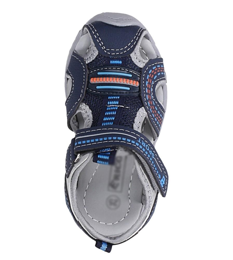Granatowe sandały na rzep Casu 58009 kolor granatowy