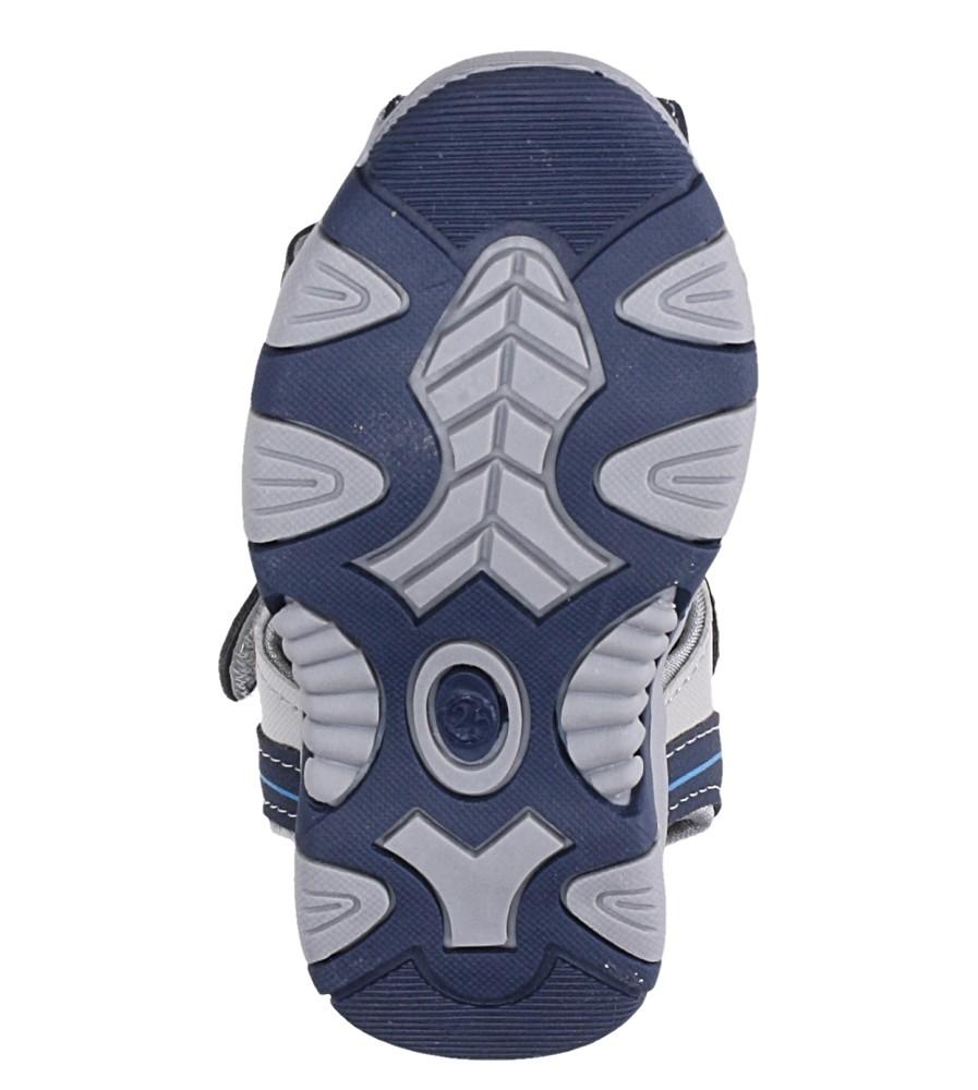 Granatowe sandały na rzep Casu 58009 wysokosc_platformy 1 cm