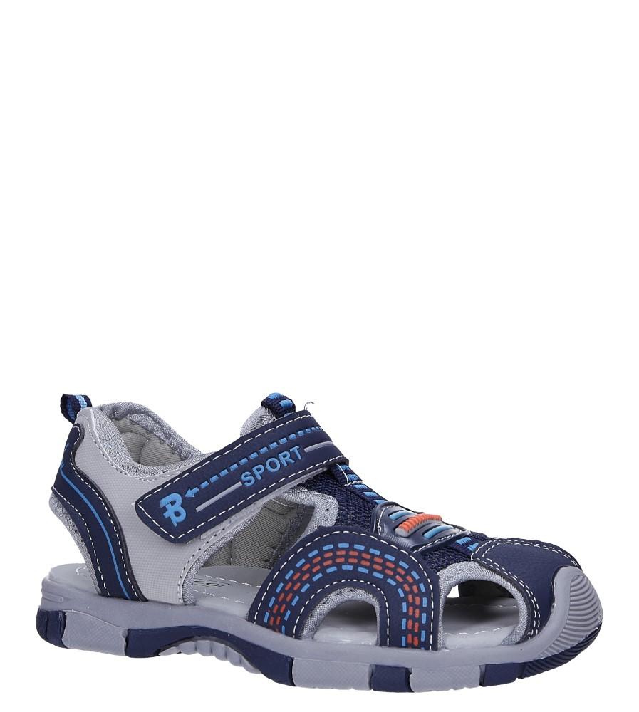 Granatowe sandały na rzep Casu 58010 producent Casu