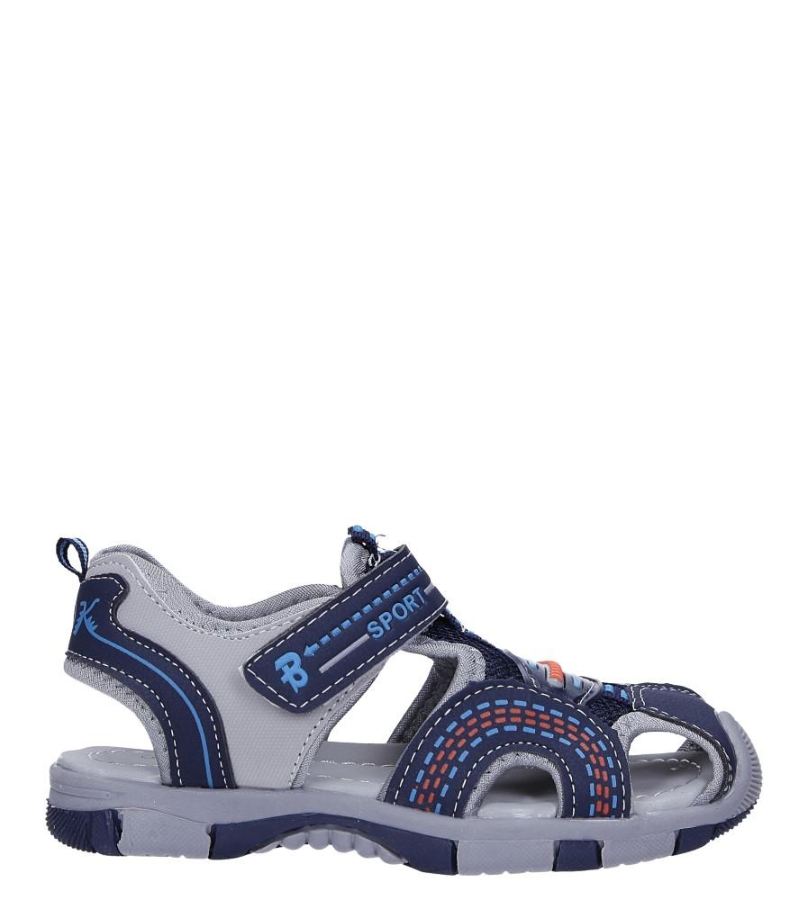 Granatowe sandały na rzep Casu 58010