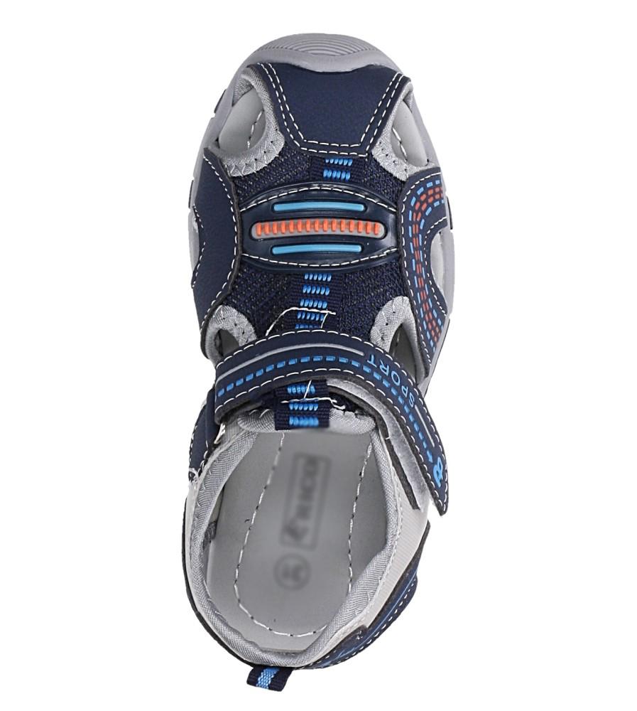 Granatowe sandały na rzep Casu 58010 kolor granatowy