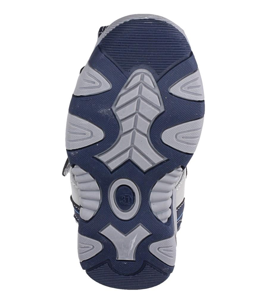 Granatowe sandały na rzep Casu 58010 wysokosc_platformy 1 cm